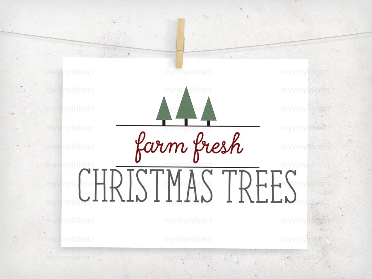 Farm Fresh Christmas Trees.Farm Fresh Christmas Trees Digital File