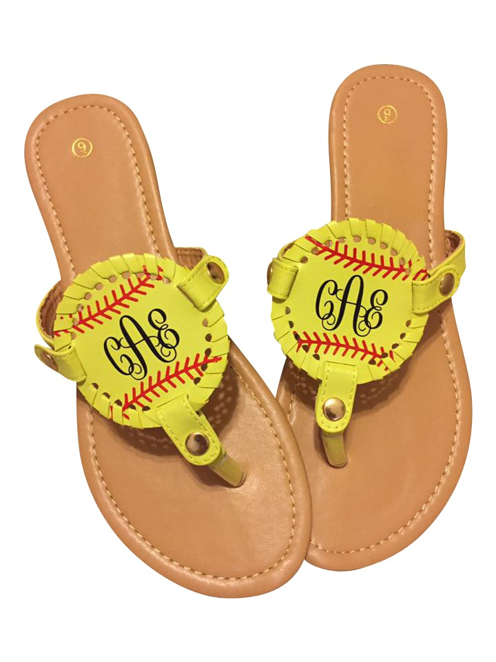 a8aa2d0739a7 Softball Sandal Softball Sandal personalized with our easyweed heat  transfer vinyl