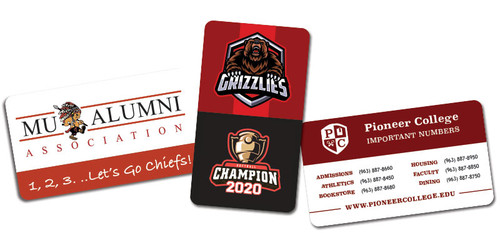 business card magnets for schools