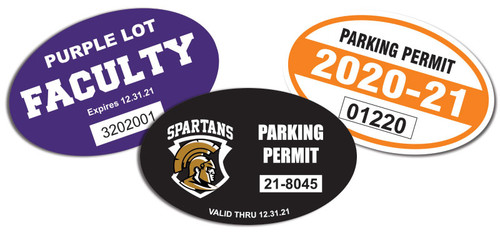 oval parking permits