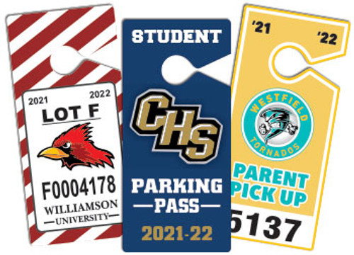 hanging parking passes