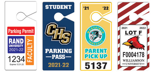 parent pick up hang tags