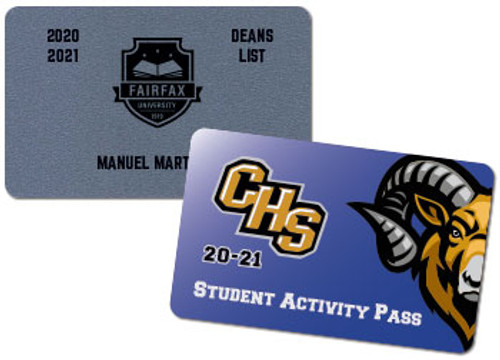 student plastic cards