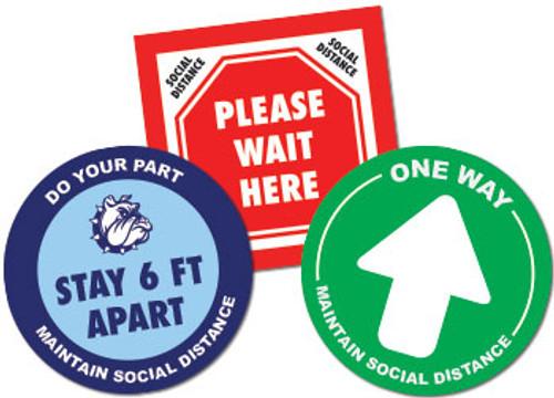 social distancing floor decals for schools