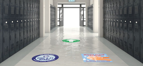 Floor decals for schools