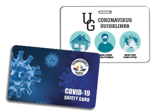 coronavirus plastic cards
