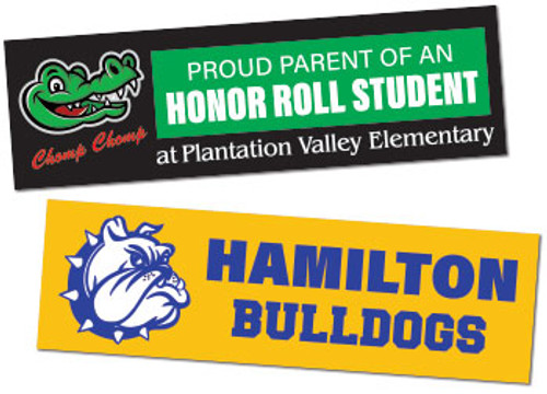 school bumper stickers
