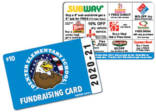 School Fundraiser Cards