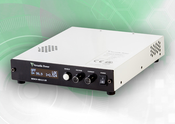BENCH 30-33 XR RO  BENCH XR RO Series are compact Programmable 600W DC Power Supplies with Extended Range. The BENCH XR RO Series is a high-density 1U design which measures just 1.73 in. (44 mm) High x 8.82 in. (224 mm) Wide x 10.30 in. (262 mm) Deep and Weighs only 5.8 lbs. (2.6 Kg). BENCH XR RO Series offer rear output terminals, output power to 600 Watts, DC output current to 33 amps and DC output voltage to 400V.  BENCH XR RO Series of 600W Programmable DC Power Supplies have received Certification as LXI conformant. LXI is an instrument connectivity standard that allows engineers to access their instruments remotely via a built-in Ethernet interface.  Full Digital Control – the Fastest and Most Accurate Available. Rear Output Terminals. SCPI Compliant USB with LabVIEW Driver and Analog Control Ports. Digital Encoders for Excellent Reliability and Accuracy. Wireless Digital Remote Sense. Built-In Voltage and Current Measurement. Full OCP (Over-Current Protection) and OVP (Over-Voltage Protection) Protection. The built-in OLED (organic light-emitting diode) front panel simultaneously shows both voltage and current readings, along with ease of setup and complete power supply status information.