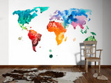 Colourful world  map 1 Mural