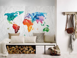Colourful world  map 2 Mural