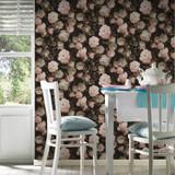 RW95376504A Floral Wallpaper