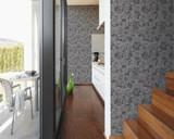 RW6700 Grey Metallic Geometric Wallpaper