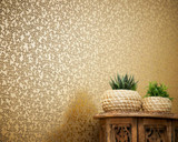 RW6719 Gold Geometric Wallpaper