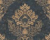RW6687 Blue Damask/Baroque Wallpaper