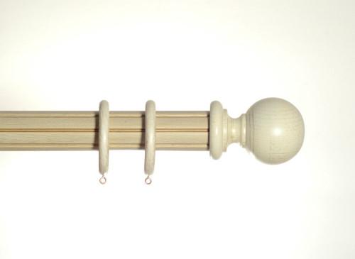 50mm Cream Gold Half Smooth, Half Reeded Wooden Pole Spirea