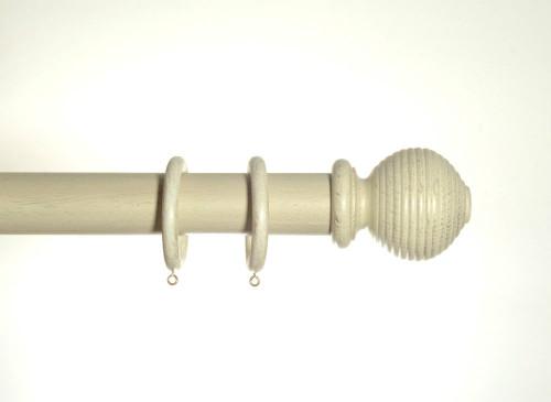 Cream Gold Wooden Pole 50mm Rigato
