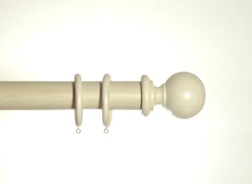 Cream Gold Wooden Pole 50mm Spirea