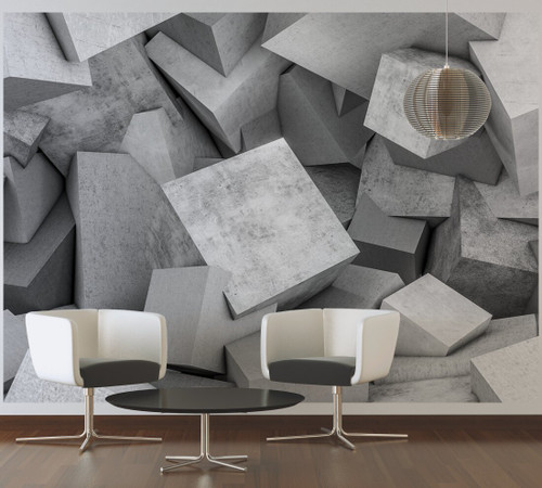 Concrete Blocks 1 Mural