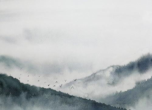 Gloomy Landscape  1 Mural