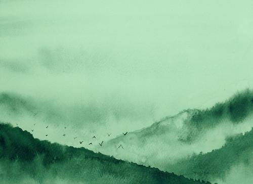 Gloomy Landscape  2 Mural