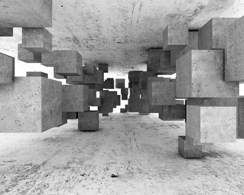 Concrete Tetris Mural