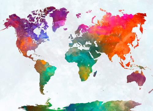 Global map Mural