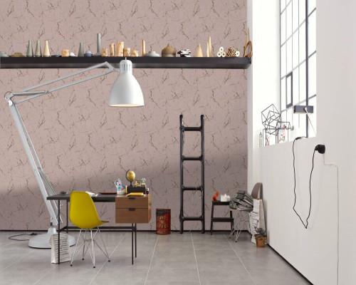 RW6698 Pink Marble Wallpaper