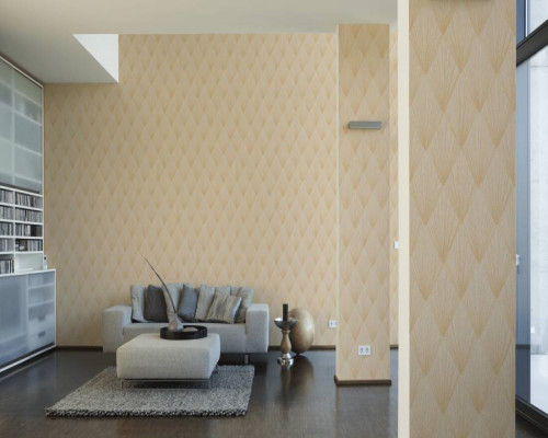 RW6640  Gold Geometric Wallpaper