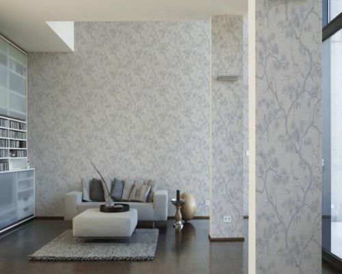 RW6672 Grey Oriental Wallpaper