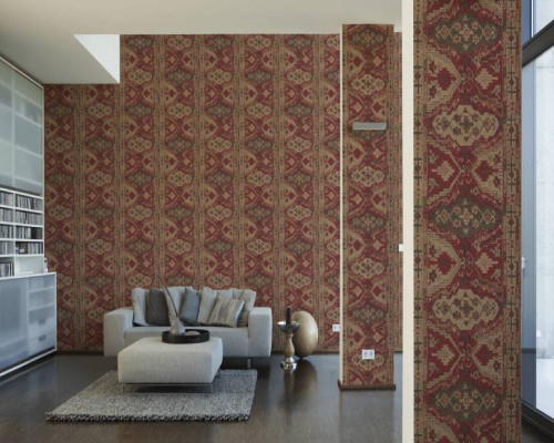 RW6720 Red Moroccan Wallpaper