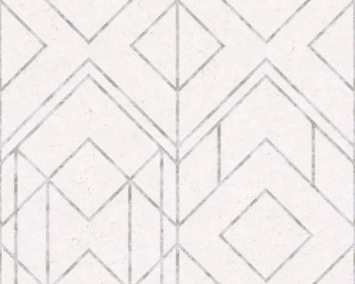 RW6646 Grey Geometric Wallpaper