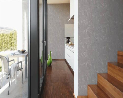 RW6716 Grey Circle Wallpaper