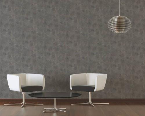 RW6713 Black/Brown Circle Wallpaper