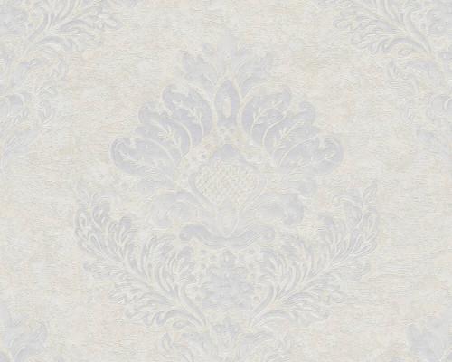 RW6692 Grey Damask/Baroque Wallpaper