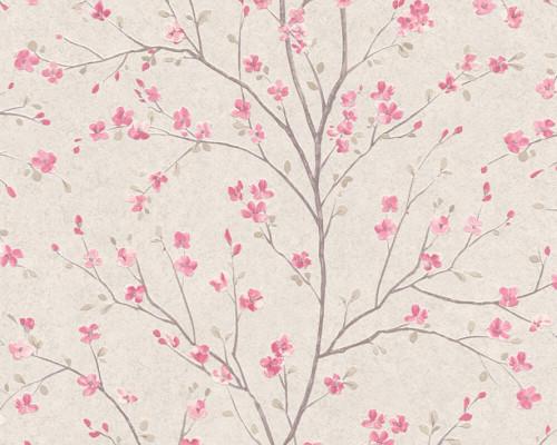 RW6684 Pink Floral Wallpaper