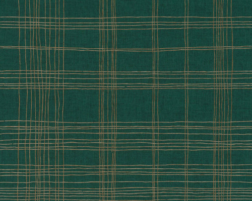 RW6653 Green/Gold Stripes & Waves Wallpaper