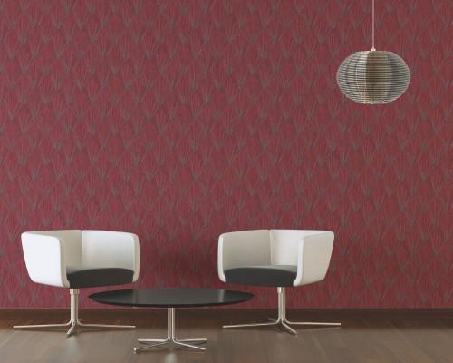 RW6643 Red Geometric Wallpaper