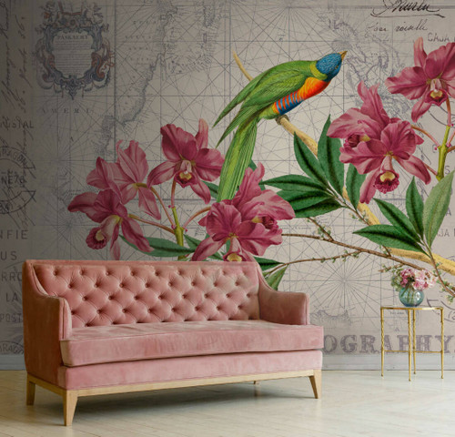 Floral Bird on Maps
