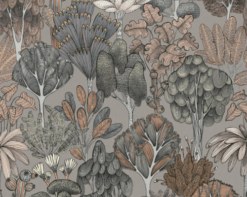 RW95377574A Brown/Grey Florals