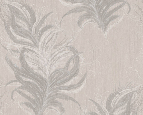 RW95380092A feather wallpaper natural