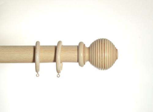 Antique Cream Wooden Pole 50mm Rigato