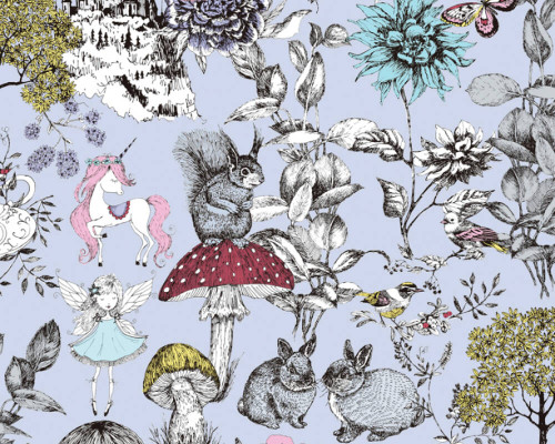 RW59381202A  Colourful Floral/Animal Wallpaper