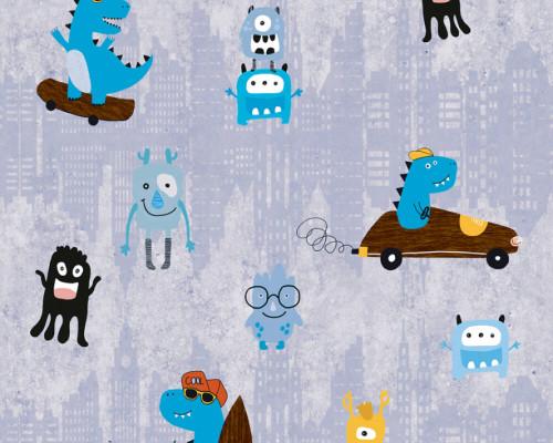 RW59381211A  Monster City Wallpaper