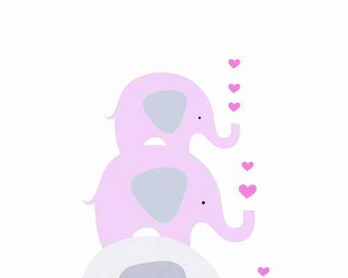 RW59381352A Pink/Grey Elephant