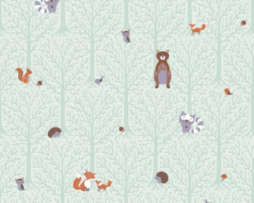 RW59381192A  Animal/Tree Wallpaper