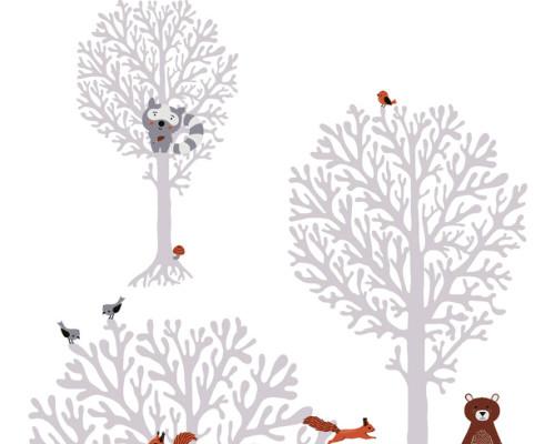RW59381341A  Animal/Tree Wallpaper