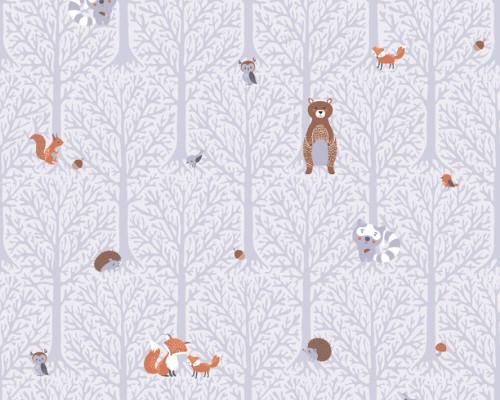 RW59381191A  Animal/Tree Wallpaper