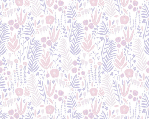 RW59381181A  Pink Floral Wallpaper
