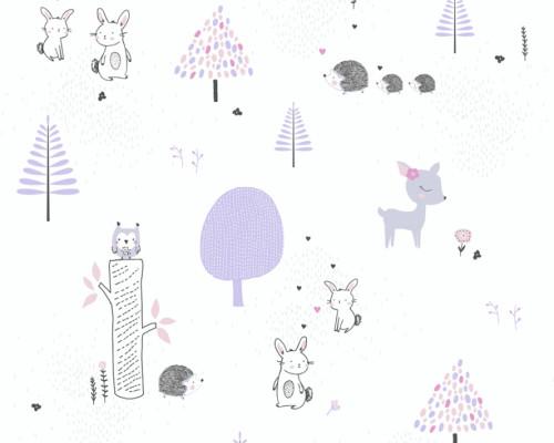 RW59381171A  Pink Animal Wallpaper